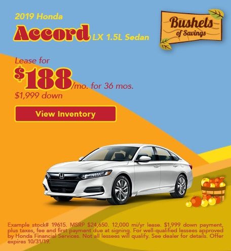 Honda Accord LX Lease Offer
