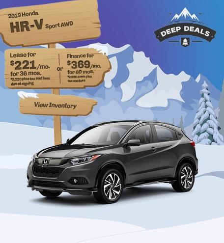 Honda HR-V Sport Special Offer
