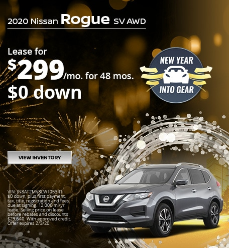 Nissan Rogue SV Lease Offer