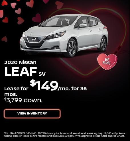 Nissan LEAF SV Lease Special Offer