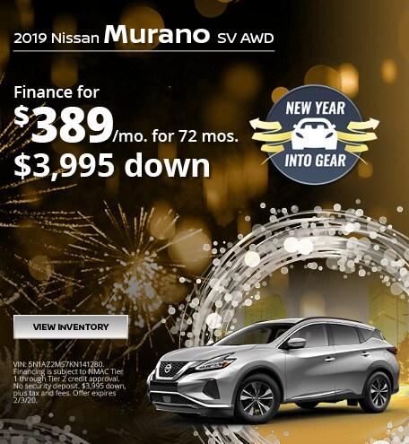 Nissan Murano SV Lease Finance Offer