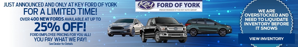 400 New Fords at Up to 25% OFF