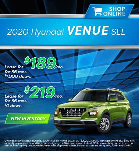 Hyundai Venue Lease Special Offer