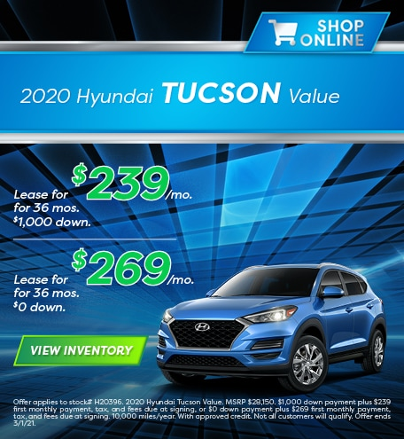 Hyundai Tucson Lease Special Offer