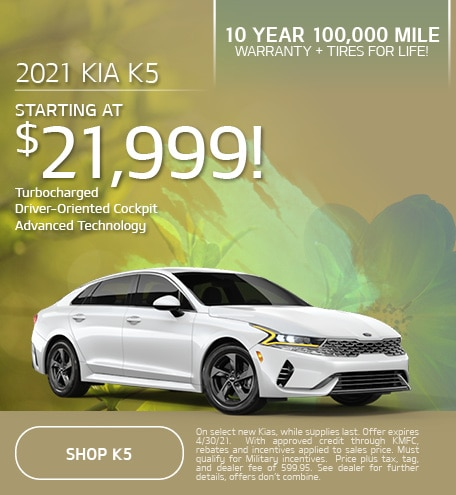 New 2021 Kia K5 | Starting at $21,999