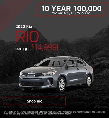 New 2020 Kia Rio | Starting at $14,999