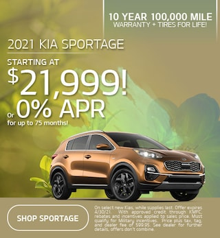 New 2021 Kia Sportage | Starting at $21,999