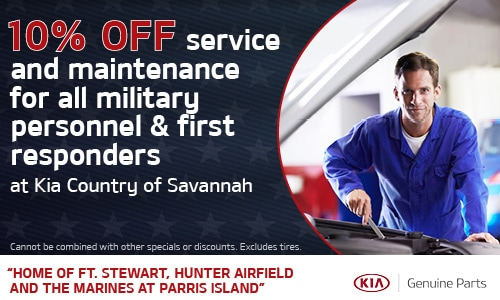 10% off service & maintenance for all military personnel & first responders