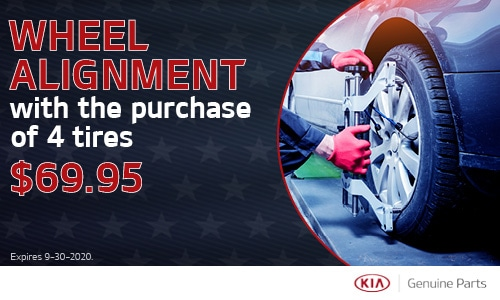 Wheel Alignment with the purchase of 4 tires