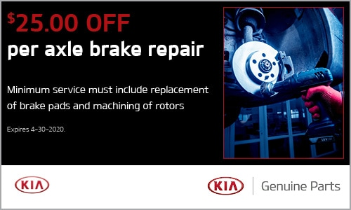 $25.00 off per axle brake repair