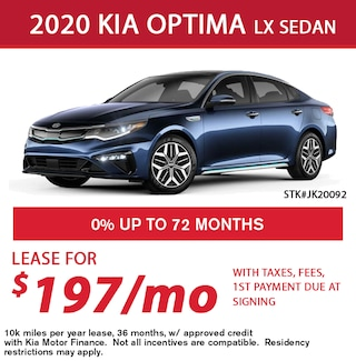 Lease a 2020 Kia Optima for only $197/month