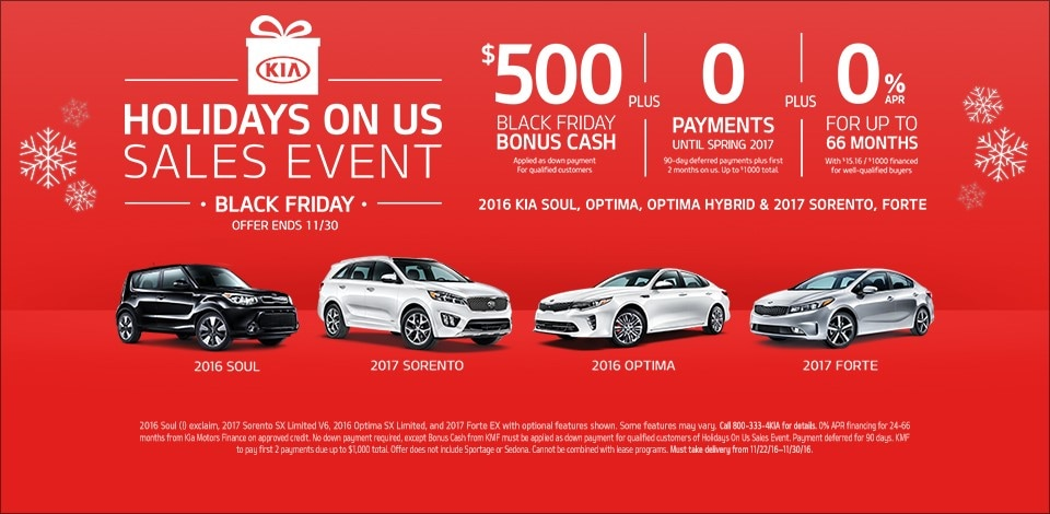 Holiday S On Us Sales Event Black Friday Kia Of Lansing