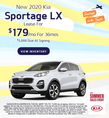 June 2020 Sportage Lease