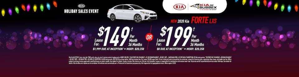 2020 Kia Forte Holiday Lease Deals