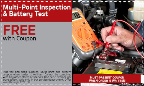 Free Multi-point Inspection & Battery Test