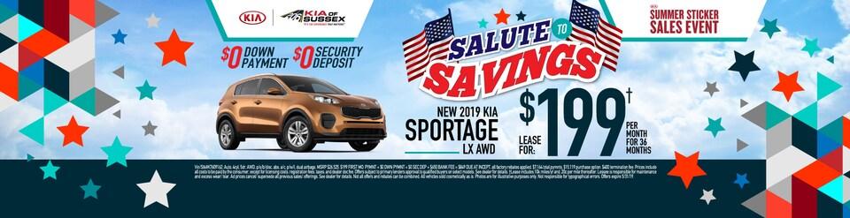 2019 Kia Sportage Lease Special