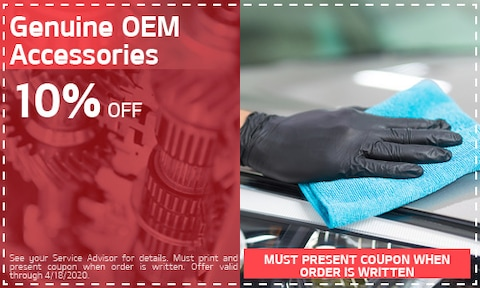 10% OFF Genuine OEM Accessories