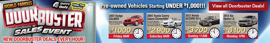 World Famous Doorbuster Sales Event