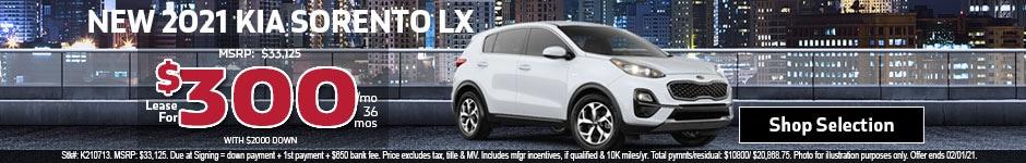 New 2021 Kia Sorento LX