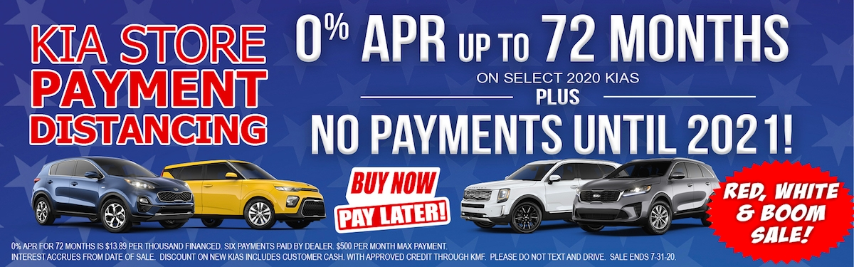 Kia Payment Distancing Offer Near Gadsden AL