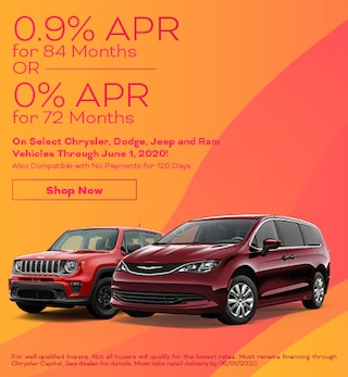 0.9% APR for 84 Months OR 0% APR for 72 Months