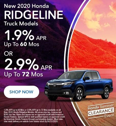 2020 Honda Ridgeline Trucks