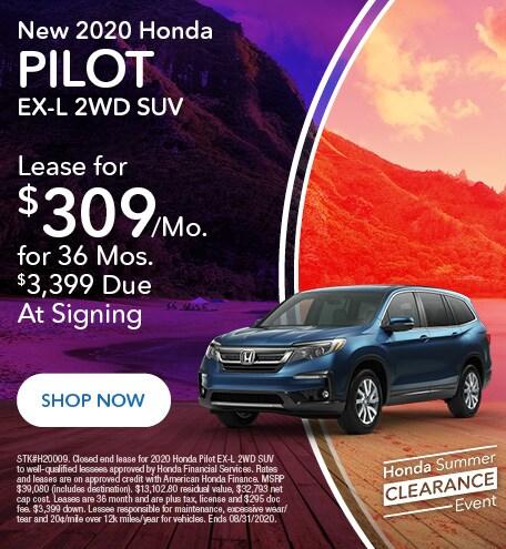 2020 Honda Pilot - Lease