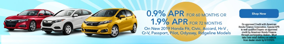 0.9% APR for 60 Months OR 1.9% APR for 72 Months
