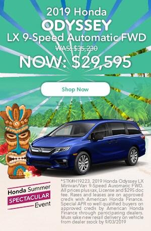 2019 Honda Odyssey LX 9-Speed Automatic FWD