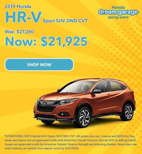 2019 Honda HR-V Sport SUV 2WD CVT