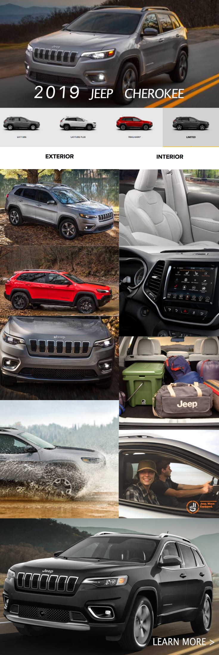 Whether Youu0027re Tackling Our Beautiful Hills Or Making Your Way Down The  Highway, The 2019 Jeep Cherokee Has The Powertrain, Space, And Convenience  Features ...