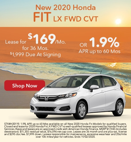 New 2020 Honda Fit LX FWD CVT
