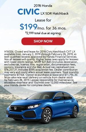 2018 Civic Hatchback Feb