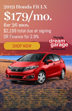 2019 Honda FIt April Offer