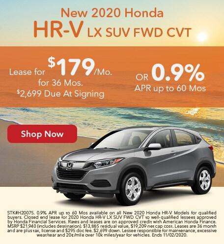 New 2020 Honda HR-V LX SUV FWD CVT