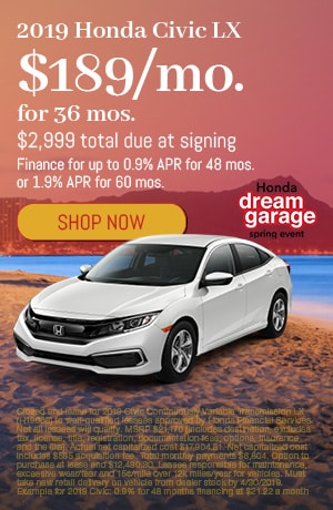 2019 Honda Civic April Offer