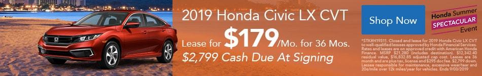 2019 Civic Aug Offer