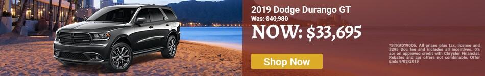 2019 Durango Aug Offer