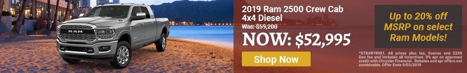 2019 Ram 2500 Crew Aug Offer