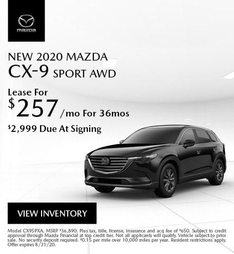 New 2020 MAZDA CX-9 Sport AWD