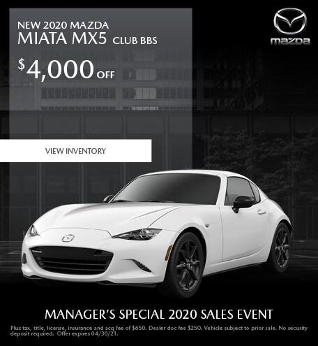 New 2020 MAZDA Miata MX5 Club BBS