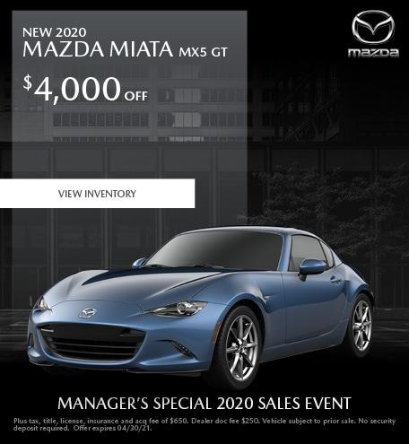 New 2020 Mazda Miata MX5 GT