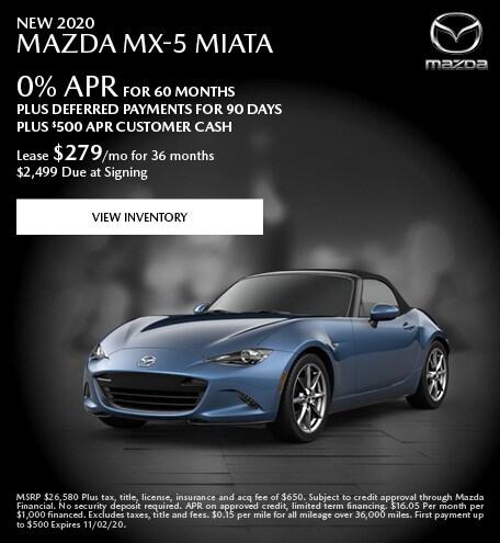 New 2020 Mazda MX-5 Miata