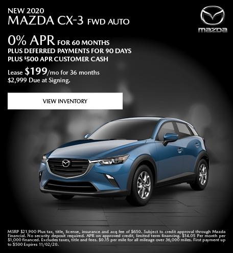 New 2020 Mazda CX-3 FWD Auto
