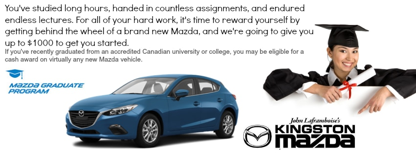 KINGSTON MAZDA New Mazda Dealership In Kingston ON KM X - Mazda graduate program