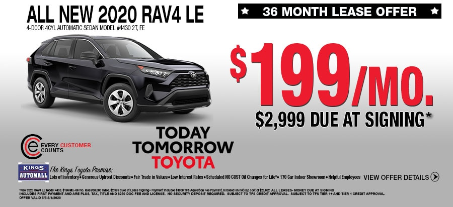 All New 2020 Rav4 Lease Specials