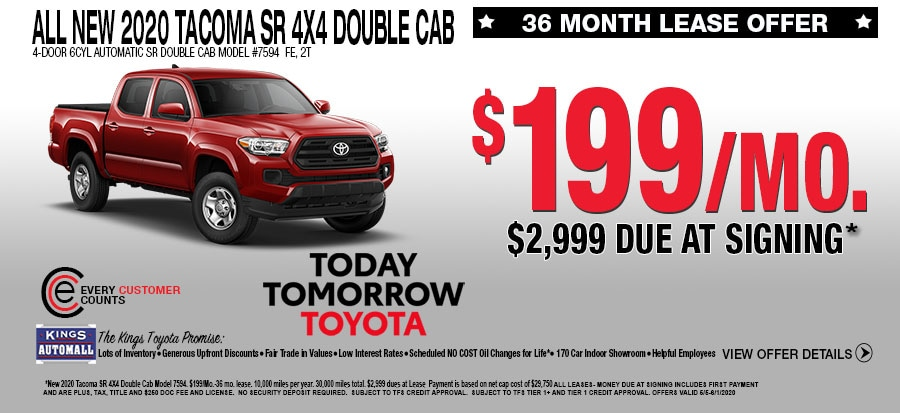 All New SR 4X4 Double Cab Lease Specials