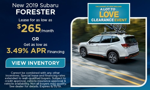 2019 Subaru Forester - August