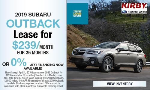 March Offer - 2019 Subaru Outback