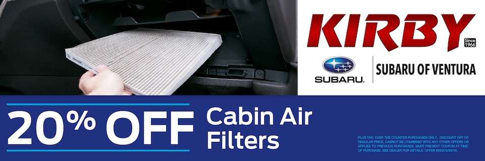 20% OFF Your Cabin Air Filter